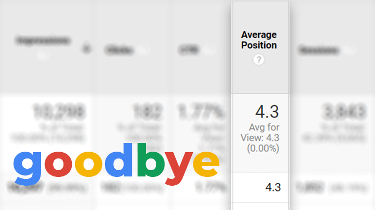 Google has Retired the Average Position Metric