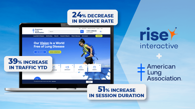 Rise Brings 39% Traffic Increase to American Lung Association Redesign