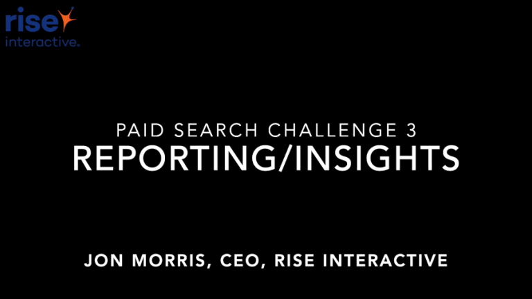 eCommerce Paid Search Reporting Infrastructure